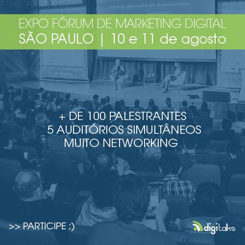 Expo Fórum de Marketing Digital 2016 está com inscrições abertas